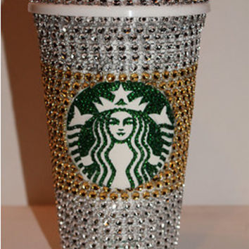 Crystal Covered Starbucks Hot Cup