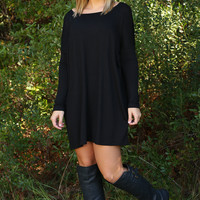 The Part Where I Break Free Piko Dress: Black