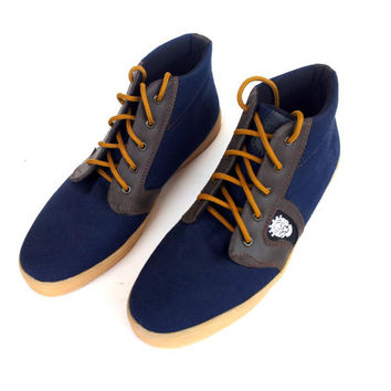 blue canvas shoes ankle boots handmade Rangkayo casual sneakers Preorder unisex autumn
