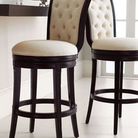 """Monohan"" Tufted Barstool & Counter Stool - Horchow"