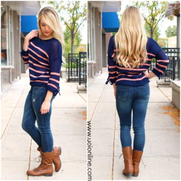 Forgive and Forget Sweater - NAVY /