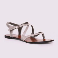 Gomax Berdine-31 Strappy Sandal in Grey @ FrockCandy.com