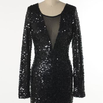 dazzling black sequin short formal party dress winter formal NYE christmas parties homecoming prom wedding vegas night out perfection fall