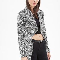 FOREVER 21 Marled Open-Front Cardigan