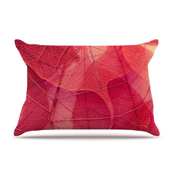 "Ingrid Beddoes ""Delicate Leaves"" Pillow Case"