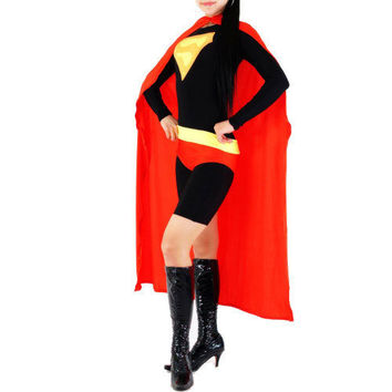 Black and Red Lycra Spandex Back Zipper Superhero Zentai Catsuit [TWL111222013] - £31.39 : Zentai, Sexy Lingerie, Zentai Suit, Chemise