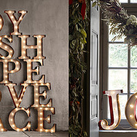 Vintage Illuminated Marquee Word | Restoration Hardware