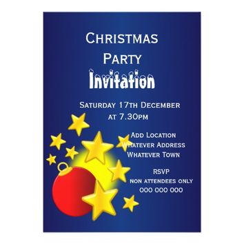 Bauble Stars Christmas Party