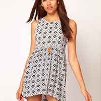 Motel Gothic Aztec Leyla Hi Lo Dress at asos.com