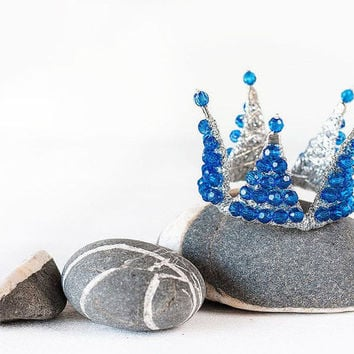 Blue princess crown, kids photoshoot accessories, photo prop, blue birthday crown, blue hair accessories, childrens crown, blue party