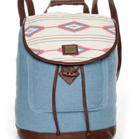 Obey Slow Ride Backpack - Denim Backpack - Obey Rucksack - $64.00