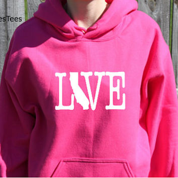 Love California Hoodie, California Sweatshirt, State, Home,