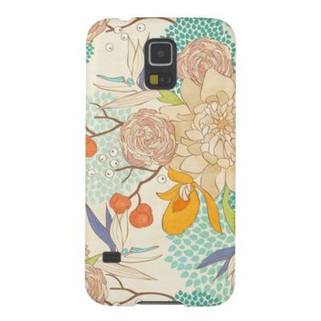 Modern Peony Rose Flower Pattern Cases For Galaxy S5