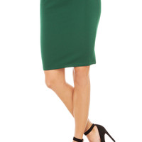Ribbed Knit Skirt in Green