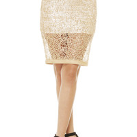 Sequin Spider Web Midi Skirt