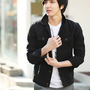 Fashion Stand Collar Blends Mens Casual Jacket Black M/L/XL @S5J05-1b-1 $34.45 only in eFexcity.com.
