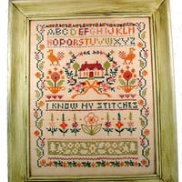 20% OFF SUMMER SALE Cross Stitch Alphabet Sampler