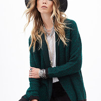 FOREVER 21 Two-Tone Knit Cardigan