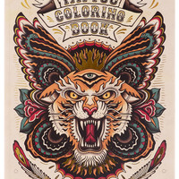 Retro Tattoo Coloring Book