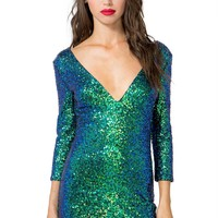 Luxe Sequined Bodycon Dress