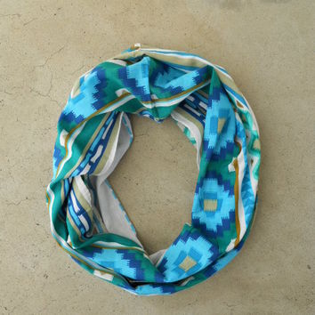 Indigo Dreamcatcher Loop Scarf [4220] - $16.00 : Vintage Inspired Clothing & Affordable Dresses, deloom | Modern. Vintage. Crafted.