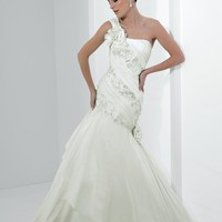 Mermaid One Shoulder Floor Length Gown with Taffeta J6141 : $235.00 at VikiDress.com.