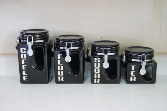 ceramic kitchen canister set black coffee from bighornsigns on kitchen canisters white decors ideas