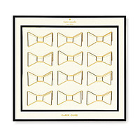kate spade new york Paper Clip Bows - Gold Bows