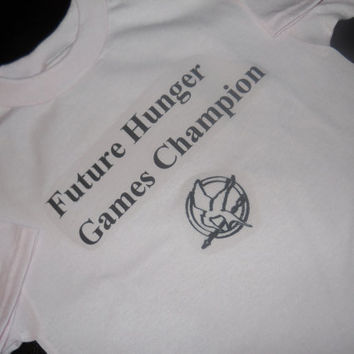 Future Hunger Games Champion T-Shirt. Hunger Games Inspired. Customize By Size And Color.