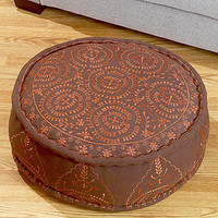 Round Embroidered Floor Cushion, Spice | Pillows and Throws| Home Decor | World Market