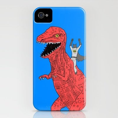 dinosaur batman forever iPhone Case by Joe Carr | Society6
