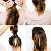 DIY wedding hair: Chestnut bun