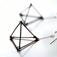 open pyramid dangle earrings by kathiroussel on Etsy