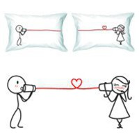 Say I Love You - Couple's Pillowcase Set