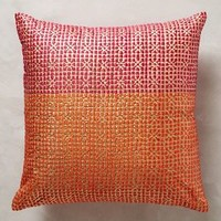 Jali Pillow by Anthropologie Pink 18 In. Square Pillows