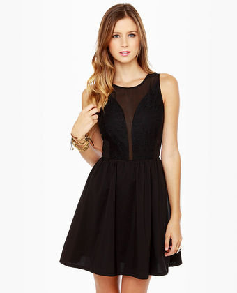 Cute Black Dress - Little Black Dress - Lace Dress - $71.00