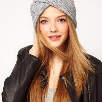 ASOS Chunky Knit Turban at asos.com