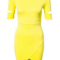 Cut Out Sleeve Scuba Dress