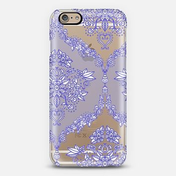 Pretty Purple Floral Pattern on Crystal Transparent iPhone 6 case by Micklyn Le Feuvre | Casetify