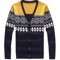Partiss Mens Loosen Casual Cardigan Sweater