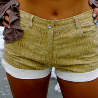 Highwaisted Cutoff Shorts with Diamonds ON SALE
