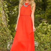 Ladies First Maxi Dress-Tomato