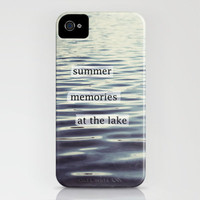 summer memories at the lake iPhone Case by Beverly LeFevre | Society6