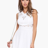 The Lacey Sleeveless Mesh Dress