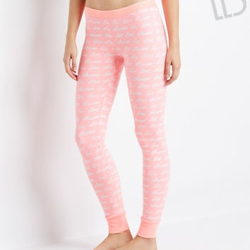 Aeropostale LLD Script Sleep Leggings - Multi 928, XX-Small