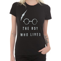 Harry Potter The Boy Who Lived Girls T-Shirt