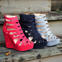 Walk The Walk Ash Grey Wedges