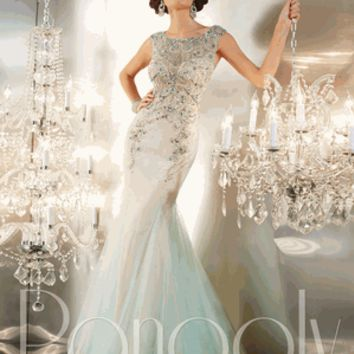 Panoply Style 14647 Size 10 Aqua/Nude