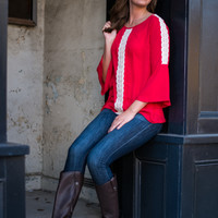 Just A Dream Blouse, Red