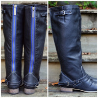 Montana Maple Black Blue Zipper Riding Boots